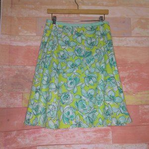 Rafaella A-line Floral Midi Skirt Size labeled 6